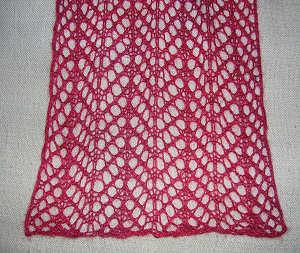 Arrowhead Lace Scarf As The Yarn Turns