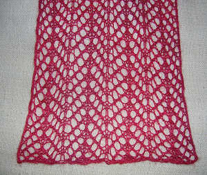 Arrowhead lace scarf